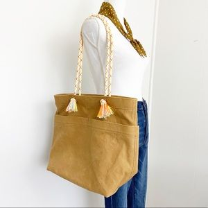 Madewell Canvas Transport Tote Corded Handle NEW
